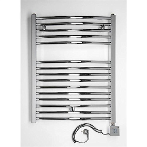 Radiador Toallero eléctrico, cromado, curva, disponible en diferentes tamaños, toallero, Secador de toalla - 1775h x 600b: Amazon.es: Hogar