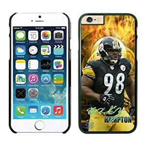 Pittsburgh Steelers Casey Hampton Case Cover For Apple Iphone 6 Plus 5.5 Inch NFL Cases Black NIC14223