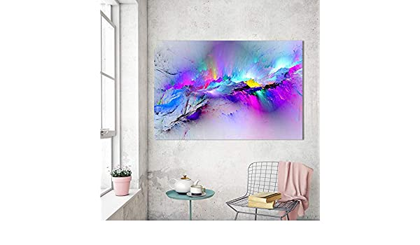 Amazon.com: Jewh Oil Painting Wall Pictures for Living Room - Home Decor Abstract Clouds Colorful Canvas Art Home Decor No Frame (24x36cm): Home & Kitchen