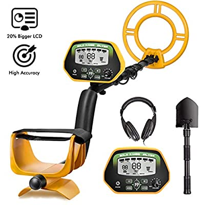 RM RICOMAX Professional Metal Detector GC-1037?Disc & Notch & Pinpoint Modes? Metal Detector Waterproof IP68 with High Accuracy?Advanced DSP Chip? Metal Detectors for Adults with Headphones