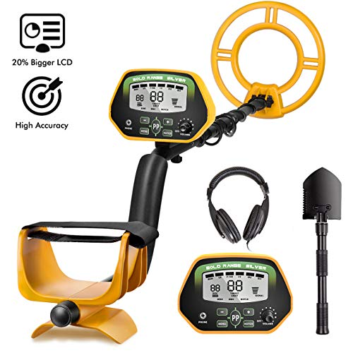 RM RICOMAX Professional Metal Detector GC-1037【Disc & Notch & Pinpoint Modes】 Metal Detector Waterproof IP68 with High Accuracy【Advanced DSP Chip】 Metal Detectors for Adults with Headphones