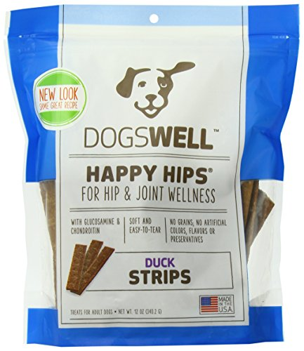 Biscuits Dog Glucosamine (Happy Hips Strips Duck Treats Usa Made, 12-Ounce)