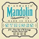 D\'Addario J73 Mandolin Strings, Phosphor Bronze, Light, 10-38