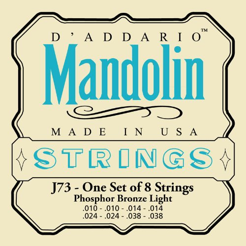 D'Addario J73 Mandolin Strings, Phosphor Bronze, Light, 10-38 D'Addario &Co. Inc