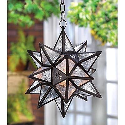 Moroccan Hanging Star Candle Lantern Hanging Lamp