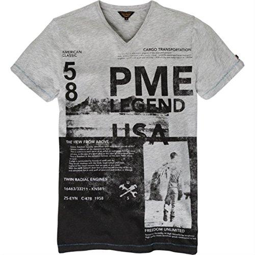 Pme legend licht grau t-shirt