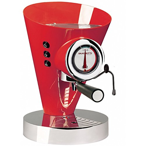 Casa Bugatti Espresso Coffee Machine Diva Evolution 15-EDIVAC3 Red 220-240 V (Evolution Machine Espresso)