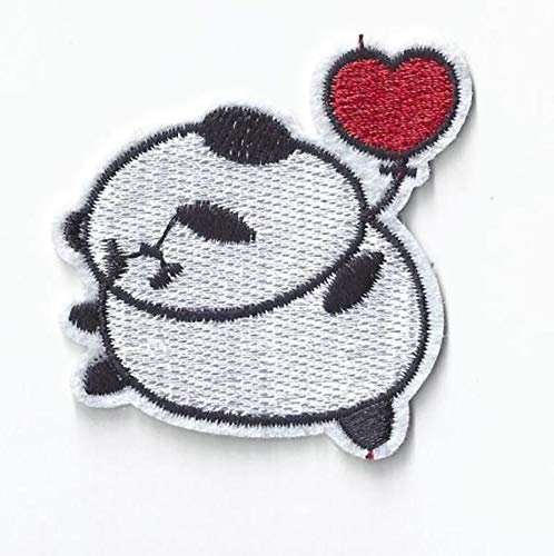 Panda Patch Iron On, Applique, Patch,Sequins Patch Supplies for Coat,T-Shirt,Costume Decorative Panda Bear]()