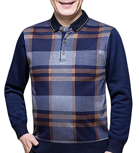 today-UK Men's Autumn Fake Two-Piece Shirt Collar Pullover Sweater 1
