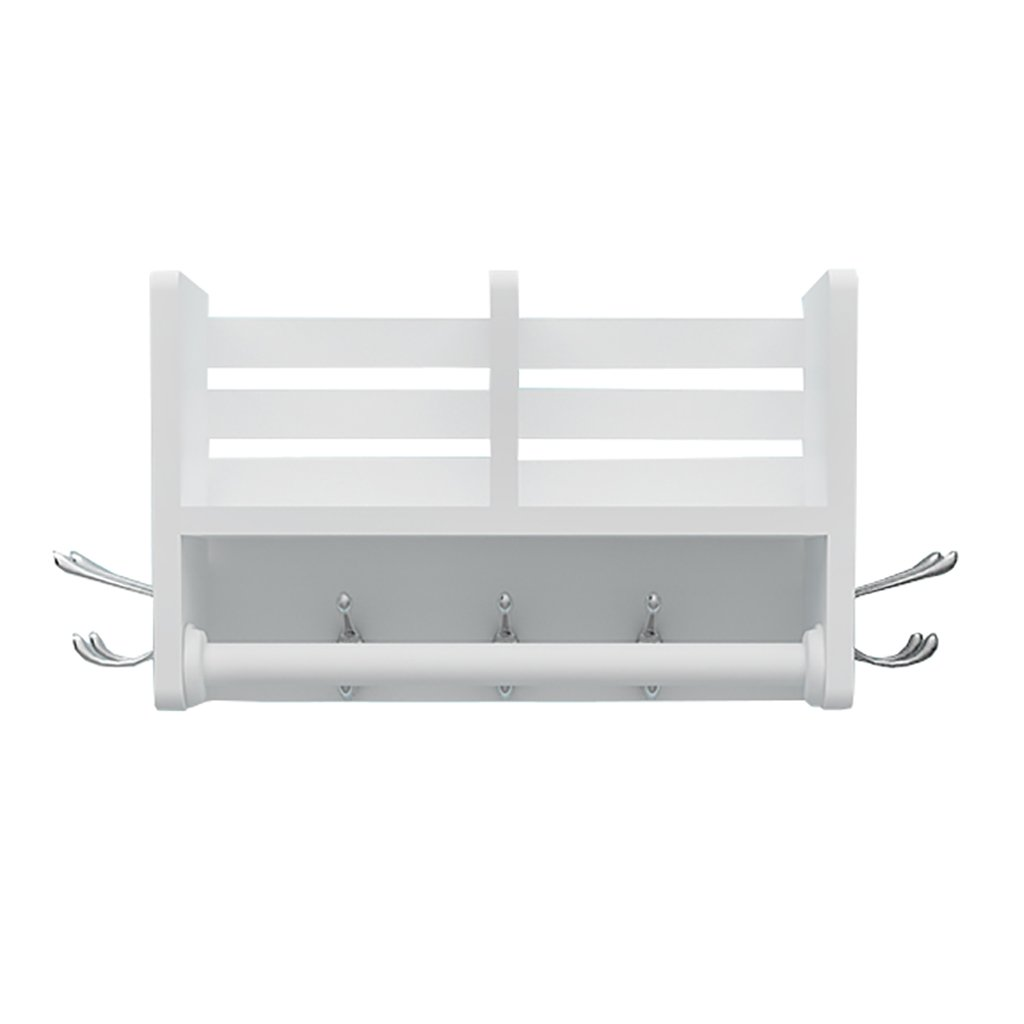 Floating Shelves Multi-function hanger wall mount rack solid wood coat rack Industrial wall frame (Size : 4016.525cm)