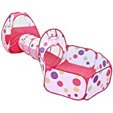 Loisleila Kids Play Tunnel Tent with Ball Pit, Children's Play Tents Playhouse for Baby Indoor Outdoor Playground