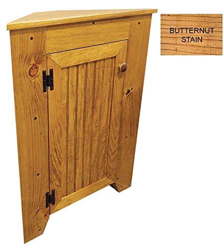 Sawdust City Corner Cabinet (Butternut Stain)