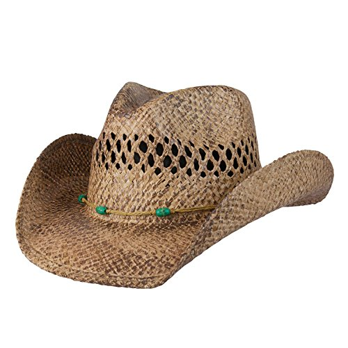 New Conner COV-VER F1016,Stormy Western Shapeable Straw Hat Coffee,US ()