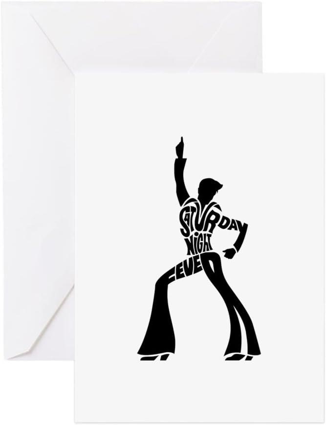 CafePress – sábado noche fiebre de bailarina tarjetas de felicitación – Tarjeta de felicitación (20-Pack), tarjeta de nota con interior en blanco, tarjeta de felicitación de cumpleaños mate: Amazon.es: Oficina y papelería
