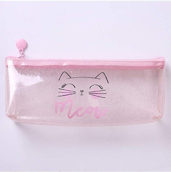 ZLJNN Transparent Pencil Cases For Girls Cute Pvc Cactus Pen Bag ...