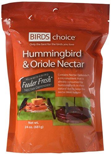 Birds Choice ND1024 Hummingbird & Oriole with Nectar Resealable Pouch