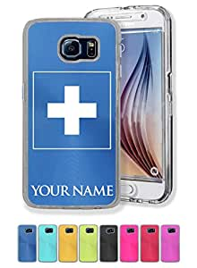Personalized Case/Cover for Samsung Galaxy S6 - FLAG OF SWITZERLAND - Engraved for FREE
