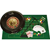 Home Style 16 Inch Roulette Set with Layout, Rake, Chips, Marker and Ball - Includes bonus Deck of Cards!