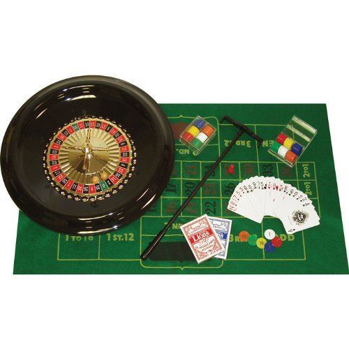 - Home Style 16 Inch Roulette Set with Layout, Rake, Chips, Marker and Ball - Includes bonus Deck of Cards!