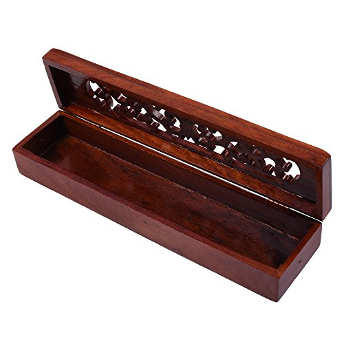 Kloud City 10.75'' x 2.5'' x 1.75'' Wooden Incense Burner Case Box (Incense Storage Box)
