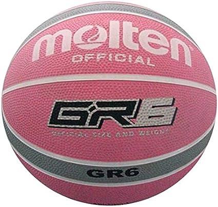 Size 6 Molten Official Light Pink//Grey Rubber Basketball