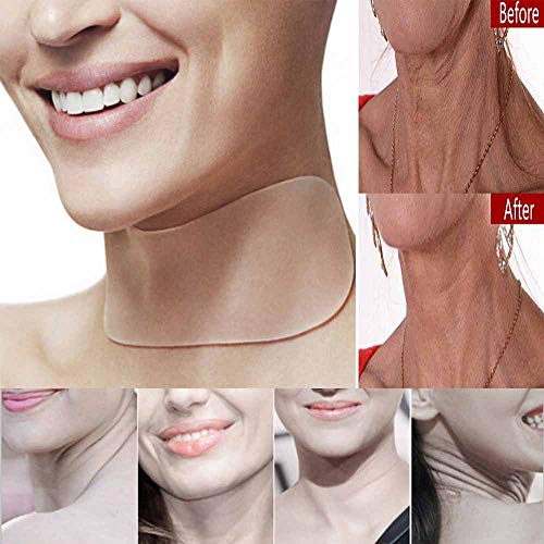 Birdfly Neck Care Pad Silicone Anti Wrinkle Aging Reusable Transparent Pads -