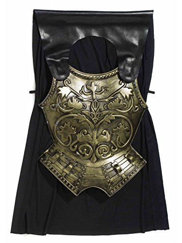 Forum Novelties Roman Costume Chest Armor with Cape, Bronze, One Size