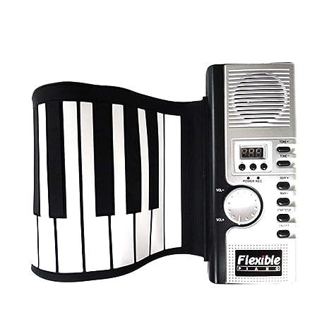 Órgano electronico Regalo de niña y niño Silicón portátil Flexible Plegable Roll Up Piano de teclado