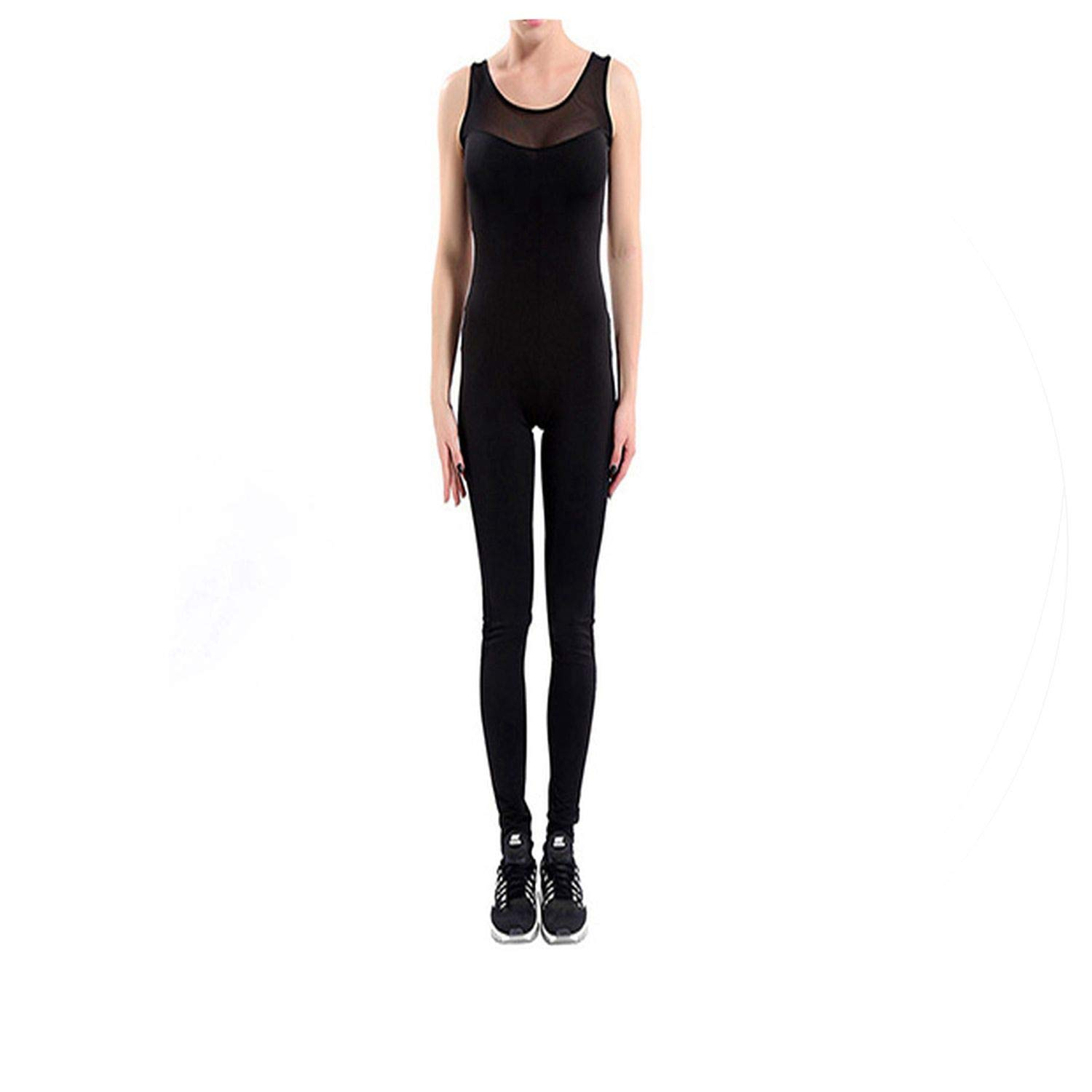 Amazon.com: Black Womens Yoga Jumpsuit Fitness Tight ...