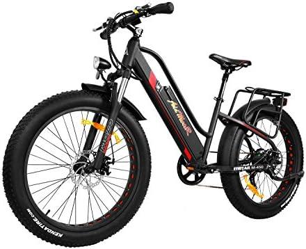 Addmotor MOTAN Mujer Bicicleta de montaña eléctrica 26 Pulgadas de ...