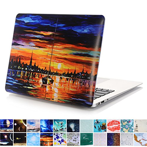 MacBook Air 11 Case, PaypHall MacBook Plastic Hard Case Galaxy Space Rubber Coated Hard Shell Cover Lightweight Protective Hard Case for Apple MacBook Air 11 inch A1370 / A1465 - Sunset (Galaxy Macbook Air 11 Case)