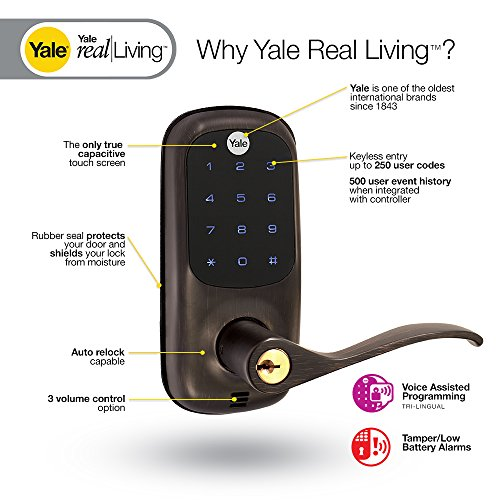 Yale Real Living Touchscreen Z-Wave Lever Lock