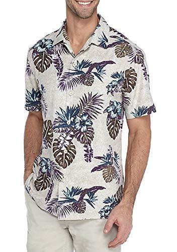 Tommy Bahama Casa Rosa Silk Camp Shirt (Color: Twill, Size L)