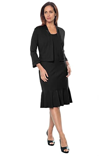 Jessica London Women's Plus Size Ponte Jacket Dress
