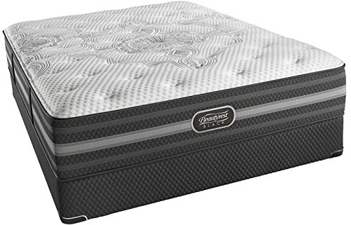 Twin XL Simmons Beautyrest Black Desiree Plush Mattress Set with Regular Foundation