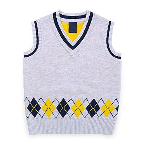 Cotton Argyle Sweater - 8