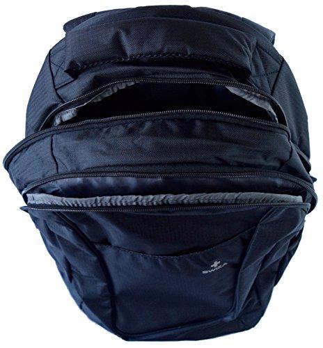 SWIZA Uni Portaris 210D PU Taschen Griffe Laptop-Tabletfach Fächer Rucksack für Erwachsene, Schwarz, 37 x 48 x 18 cm