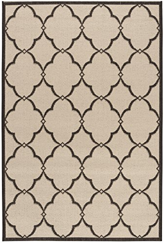 Safavieh LND125U-4 Linden Collection Area Rug, 4' x 6', Crème/Brown (Creme Rug)