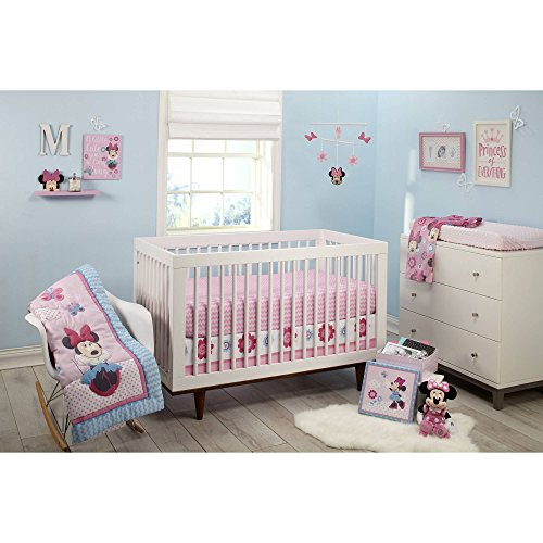 Minnie Mouse Happy Day 4-Piece Crib Bedding Set - Ella Crib Bedding Set