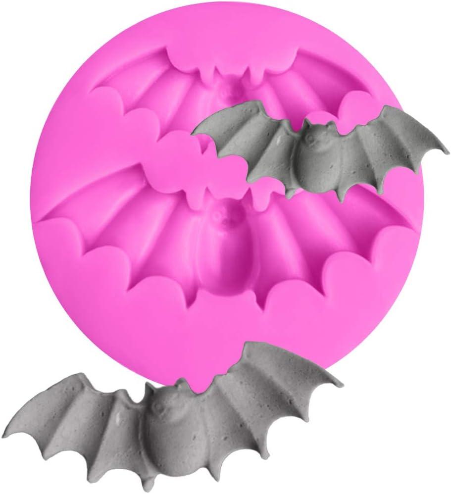 joyliveCY K/üche DIY Halloween Flederm/äuse kompatibel mitm Silikon Schokoladenkompatibel mitm Kuchen Dekorieren Tools Kuchen Schablonen