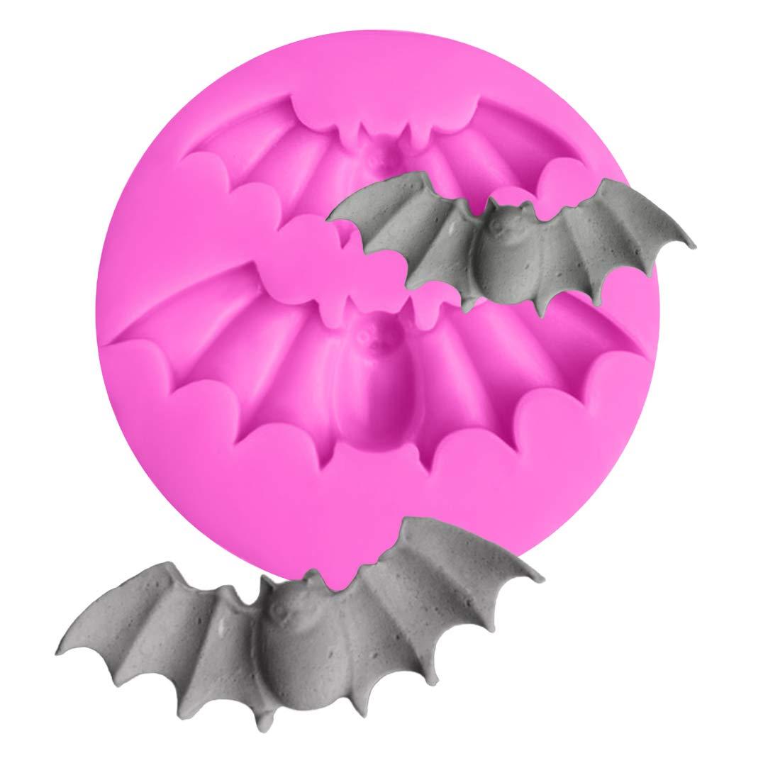 joyliveCY Cocina DIY murciélagos de Halloween Compatible Conma de Silicona del Molde del Chocolate Herramientas de decoración de Pasteles Cake Stencils: ...