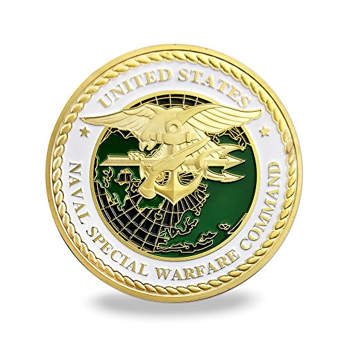 (US Navy Seals Challenge Coin Naval Special Warfare Command Military Coin)