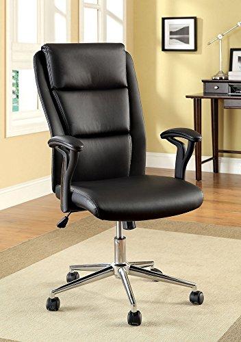 247SHOPATHOME IDF-FC609 Adjustable-Home-Desk-Chairs, Black