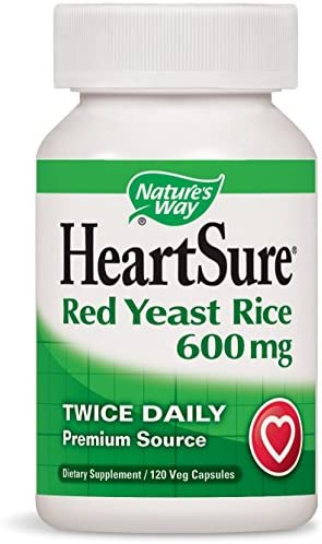 Nature s Way HeartSure Red Yeast Rice 600 mg Twice Daily, 120 VCaps