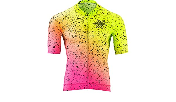 Supacaz x Nalini Scorch Bike Jersey Neon Yellow Pink  Amazon.com.au   Sports a85271492
