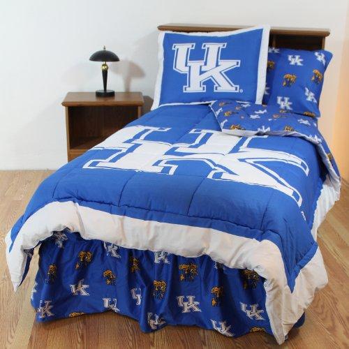Kentucky Wildcats (2) Piece Twin Reversible Comforter Set - Includes: (1) Twin Reversible Comforter and (1) Standard Pillow Sham - Save Big By Bundling!