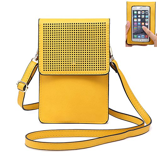Phone Purse IPhone Crossbody Yellow for Pouch S8 Mini 7 Wallet X teens Women Cell for 8 Bag Samsung Plus Girls Phone rrxYfB