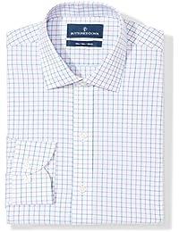Men's Slim Fit Plaid Pattern Non-Iron Dress Shirt