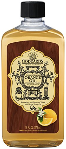 Goddard's Cabinet Makers Orange Oil Furniture Polish – 16 oz – Ideal For Woodwork and Furnishings Vermont Cabinet