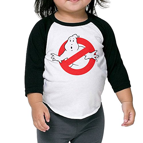 Kid's Ghostbusters Logo Slimer Toddler Child 3/4 Sleeve Raglan T-Shirt 100% Cotton 2 Toddler]()